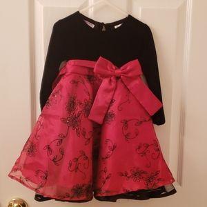 Girls 2T Blueberi boulevard formal red/black dress